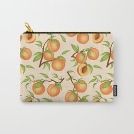 Practice What You Peach - Peach Pattern Carry-All Pouch