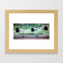 We live, we express ourselves, we die Framed Art Print