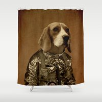 beagle Shower Curtains featuring Beagle by Durro