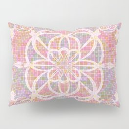 Violet red geometry Pillow Sham