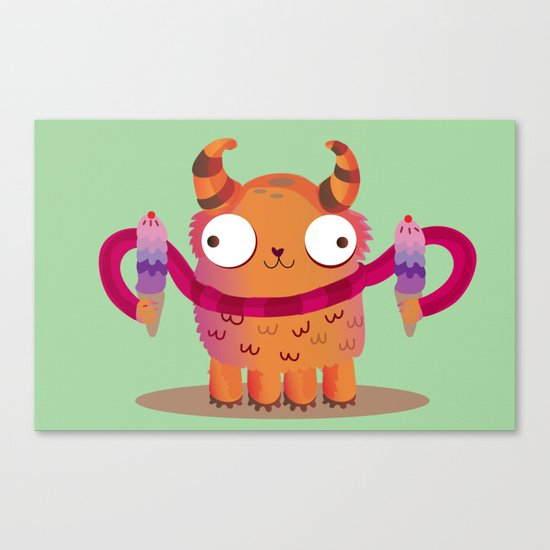 Icecream monster Canvas Print