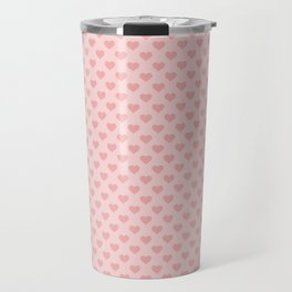 Large Blush Pink Lovehearts on Light Pink Travel Mug