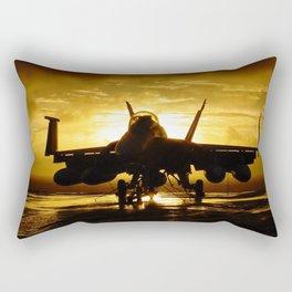 FA-18F at Sunset Rectangular Pillow