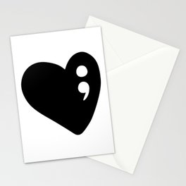 Semicolon Heart for mental health awareness Stationery Cards