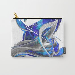 Blue White And Gray Art - Flowing 3 - Sharon Cummings Carry-All Pouch
