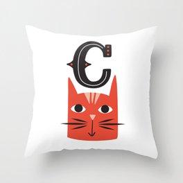 ABC's - Illustrated Alphabet Throw Pillow