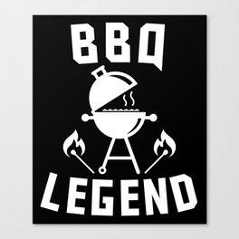 BBQ Legend Charcoal Barbeque Grill Canvas Print