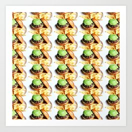 avocado burger Art Print