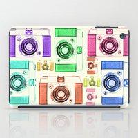 camera iPad Cases featuring CAMERA by Laura Maria Designs