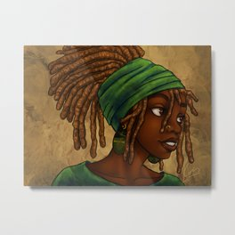Green Wrap Metal Print