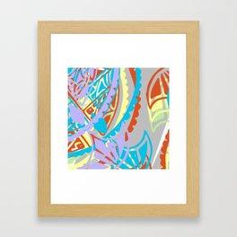 Flying kites-study in pastels Framed Art Print