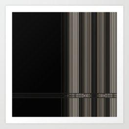 Modern Taupe Grey Ribbion Pattern Design Art Print