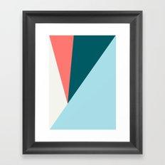 Blue Red Triangles Framed Art Print