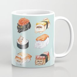Sushi Persian Cat Watercolor Coffee Mug