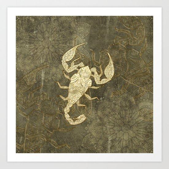 Beautiful scorpion mandala Art Print