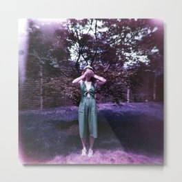 Girl in a Lavender World - Holga Film Photograph Metal Print