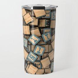 Binary blocks Travel Mug