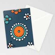 Orange flower pattern Stationery Cards