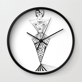mermaid lady Wall Clock