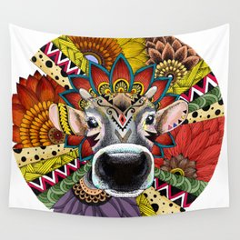 TRIBAL COW Wall Tapestry