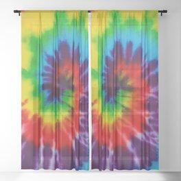 Tie-Dye Sheer Curtain