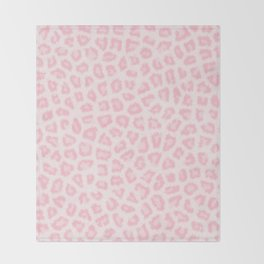 Girly blush pink white abstract animal print Throw Blanket