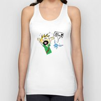 calvin hobbes Tank Tops featuring Calvin the Timeless Hero by DonCorgi