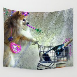 Cute Little Party Animal Wall Tapestry