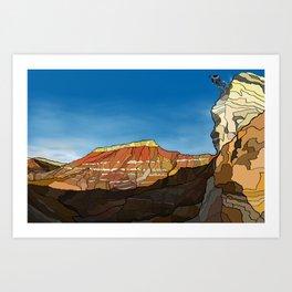 MTB Riding in Utah Art Print
