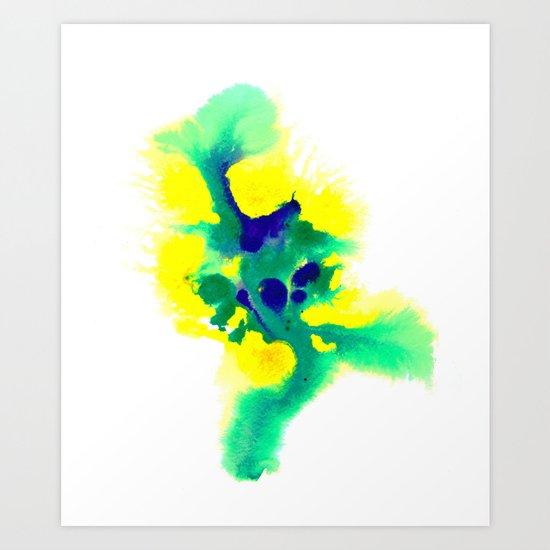 WATERCOLOR BRAZIL Art Print