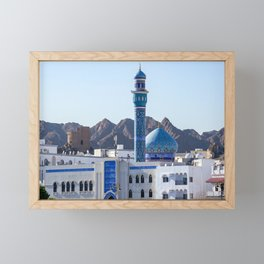 Muttrah Mosque - Muscat, Oman Framed Mini Art Print