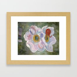 The Happenstance Meeting In The Enchanted Hellebore Framed Art Print