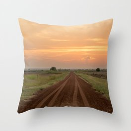 Follow your dreams, a Oklahoma sunset Throw Pillow