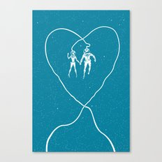 Love Space, Blue Canvas Print
