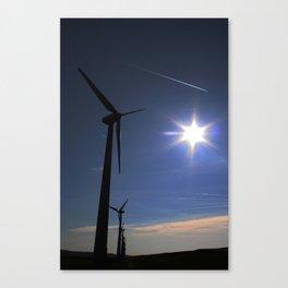 Windfarm and Blue Sky Canvas Print