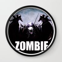 zombie Wall Clocks featuring ZOMBIE by Zombie Rust