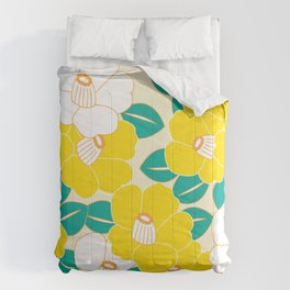 Shades of Tsubaki - Yellow & White Comforters