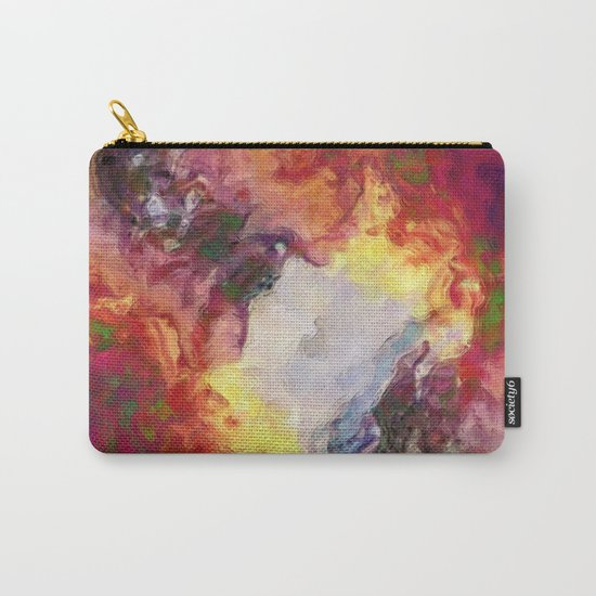 Shades of Red Abstract Carry-All Pouch