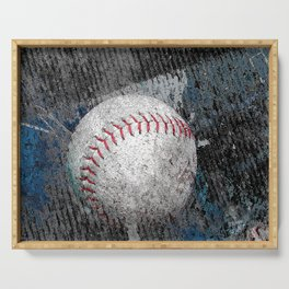 Baseball print work vs 1 Serving Tray