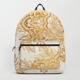 Queen Starring of Mandala-Gold Sunflower I Backpack