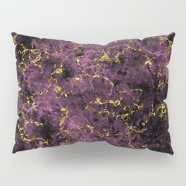 GOLD MAGENTA MARBLE Pillow Sham