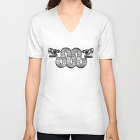 aztec V-neck T-shirts featuring Aztec by Estelle F