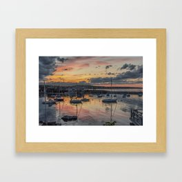 Sunset in Rockport Harbor 6-10-18 Framed Art Print