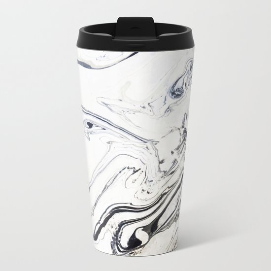 Marble Art V12 #society6 Metal Travel Mug