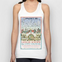 parks and recreation Tank Tops featuring Leslie Knope for City Council - Parks and Recreation Dept. by Jasey Crowl