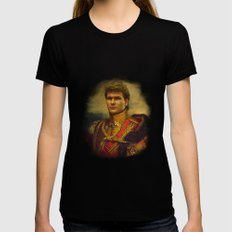 Patrick Swayze - replaceface Womens Fitted Tee Black X-LARGE