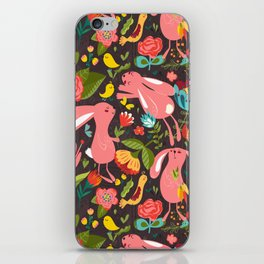Bunnies in the wild iPhone Skin
