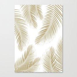 Palm Leaves - Gold Cali Vibes #3 #tropical #decor #art #society6 Canvas Print