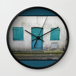 House in Honfleur, France Wall Clock