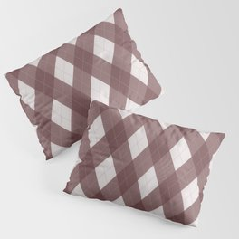 Pantone Red Pear Argyle Plaid Diamond Pattern Pillow Sham